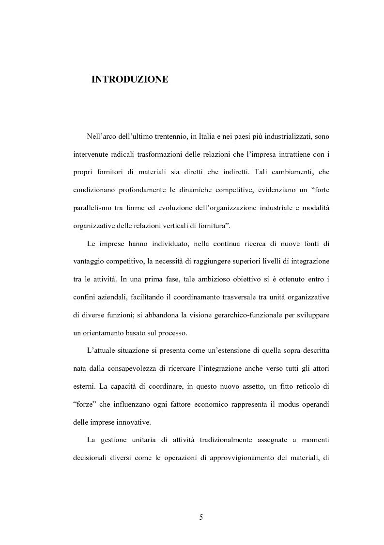 Anteprima della tesi: Le nuove frontiere del vantaggio competitivo nel ''business to business'' : e-procurement supply chain management, Pagina 1