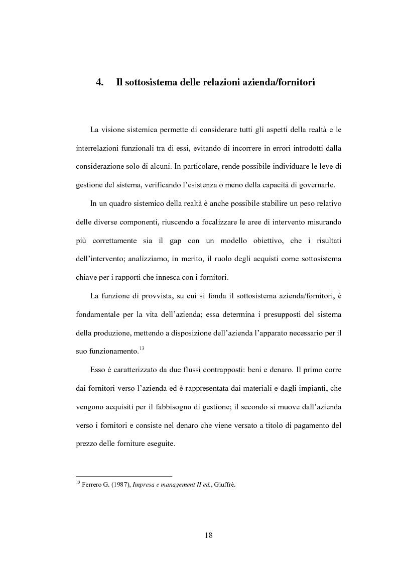 Anteprima della tesi: Le nuove frontiere del vantaggio competitivo nel ''business to business'' : e-procurement supply chain management, Pagina 14