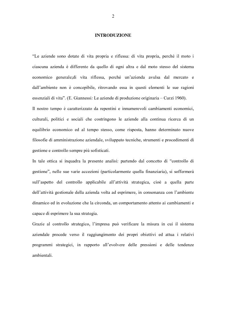 Anteprima della tesi: Il controllo strategico, Pagina 1
