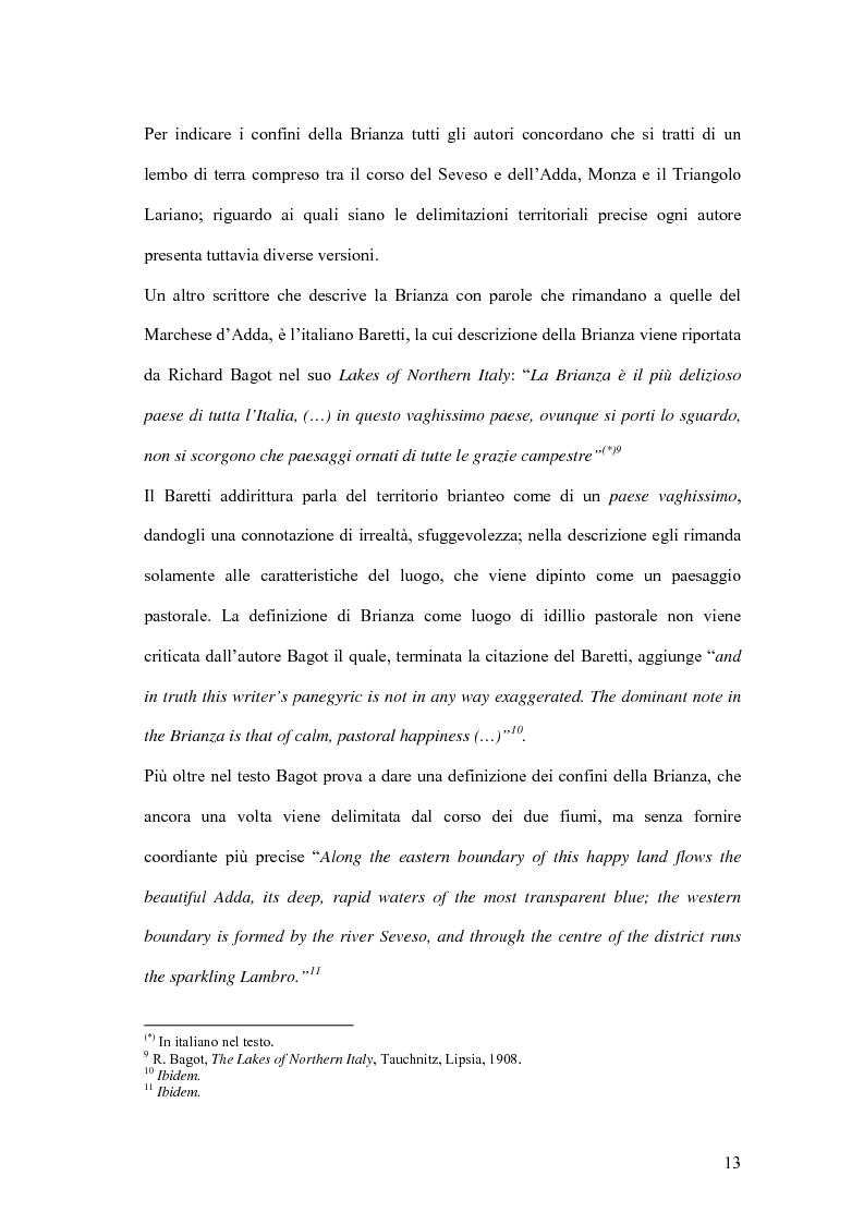 Anteprima della tesi: Viaggio e paesaggio in Brianza: i turisti di oggi e la traccia anglosassone, Pagina 13