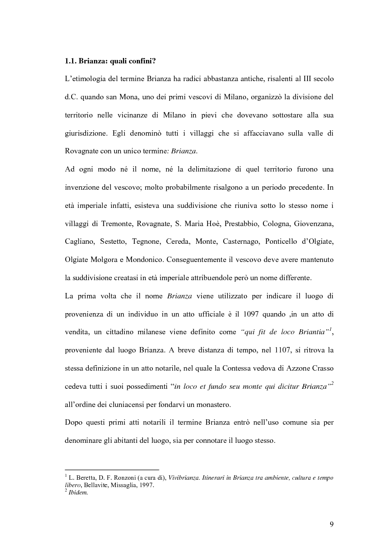 Anteprima della tesi: Viaggio e paesaggio in Brianza: i turisti di oggi e la traccia anglosassone, Pagina 9