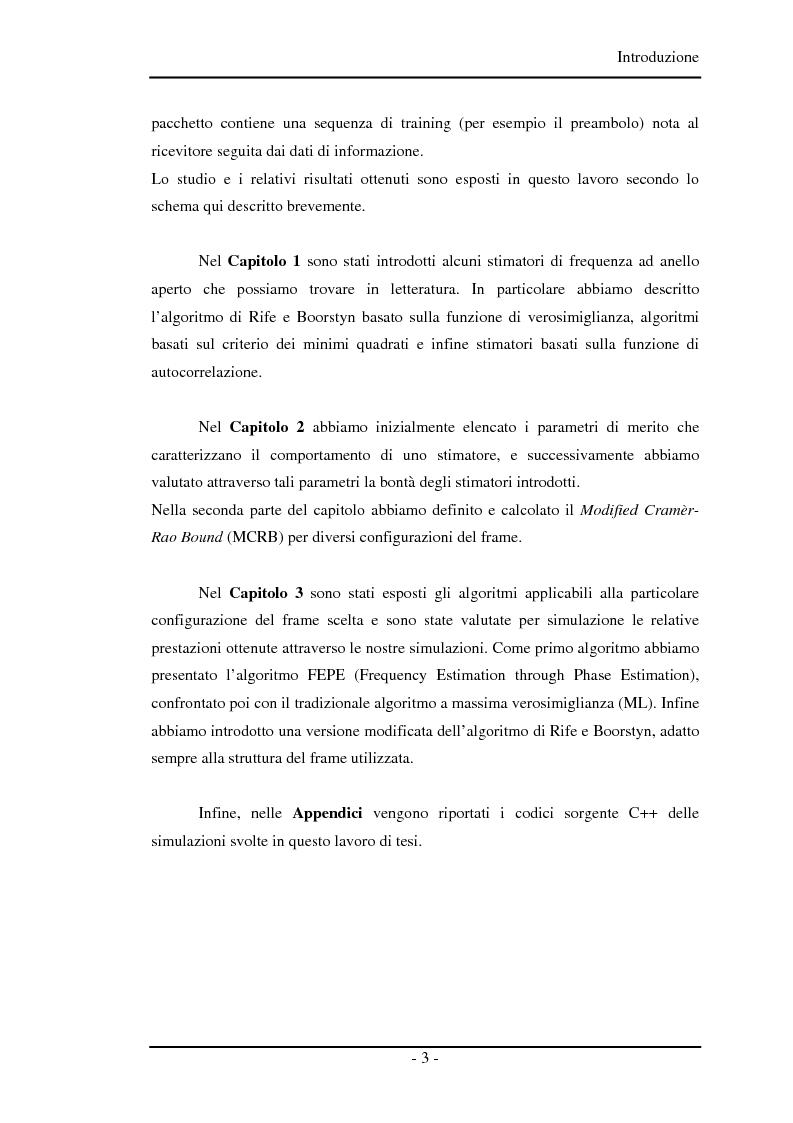 Anteprima della tesi: Algoritmi a risoluzione incrementata per la stima della frequenza di una portante, Pagina 3