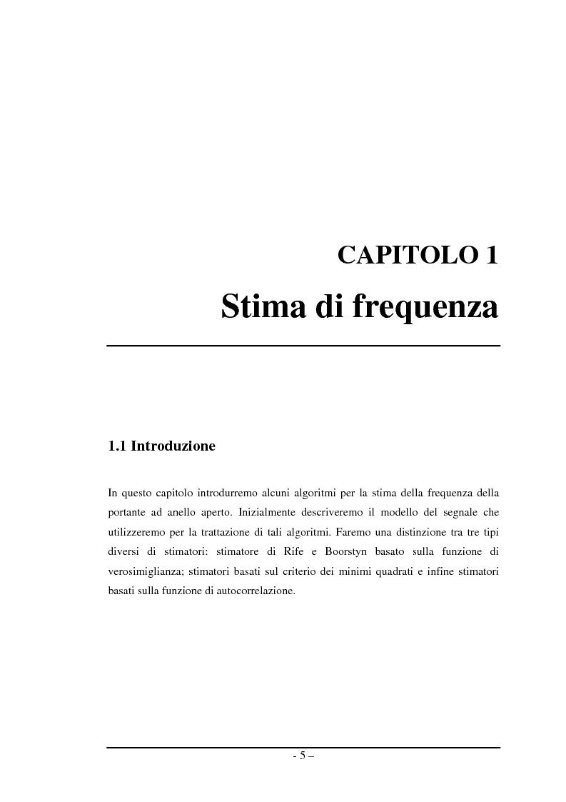Anteprima della tesi: Algoritmi a risoluzione incrementata per la stima della frequenza di una portante, Pagina 4