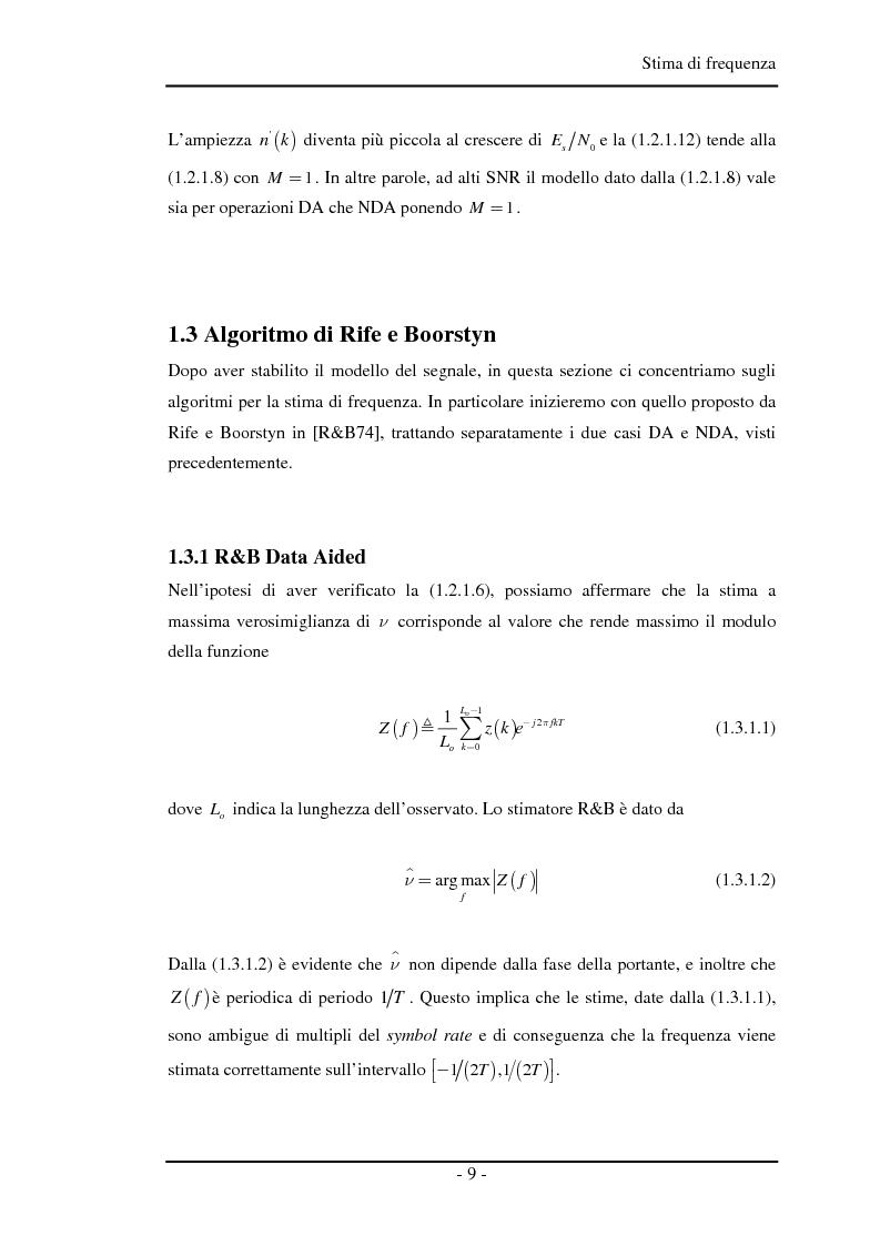 Anteprima della tesi: Algoritmi a risoluzione incrementata per la stima della frequenza di una portante, Pagina 8