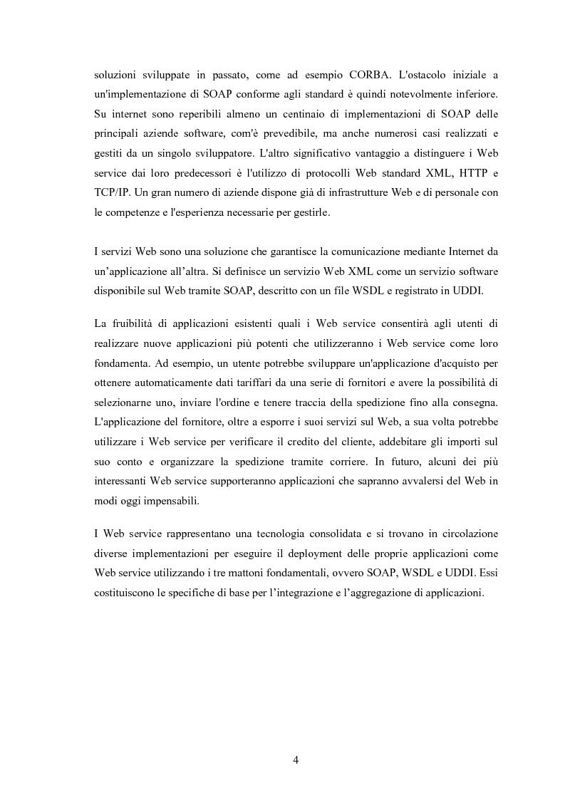 Anteprima della tesi: Progetto e realizzazione di un sistema per il monitoraggio dinamico delle prestazioni in un server replicato basato su Web service, Pagina 2