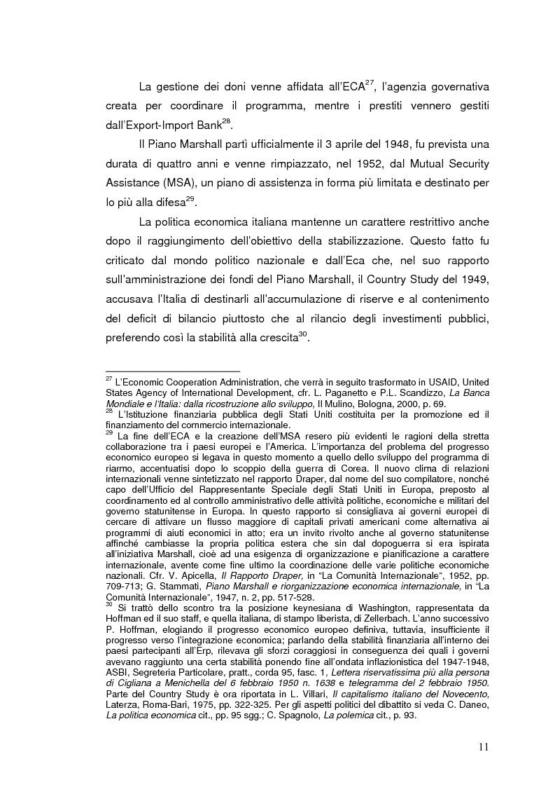 Anteprima della tesi: La Banca Internazionale per la Ricostruzione e lo Sviluppo nella storia dell'intervento straordinario per il Mezzogiorno (1946-1960), Pagina 11