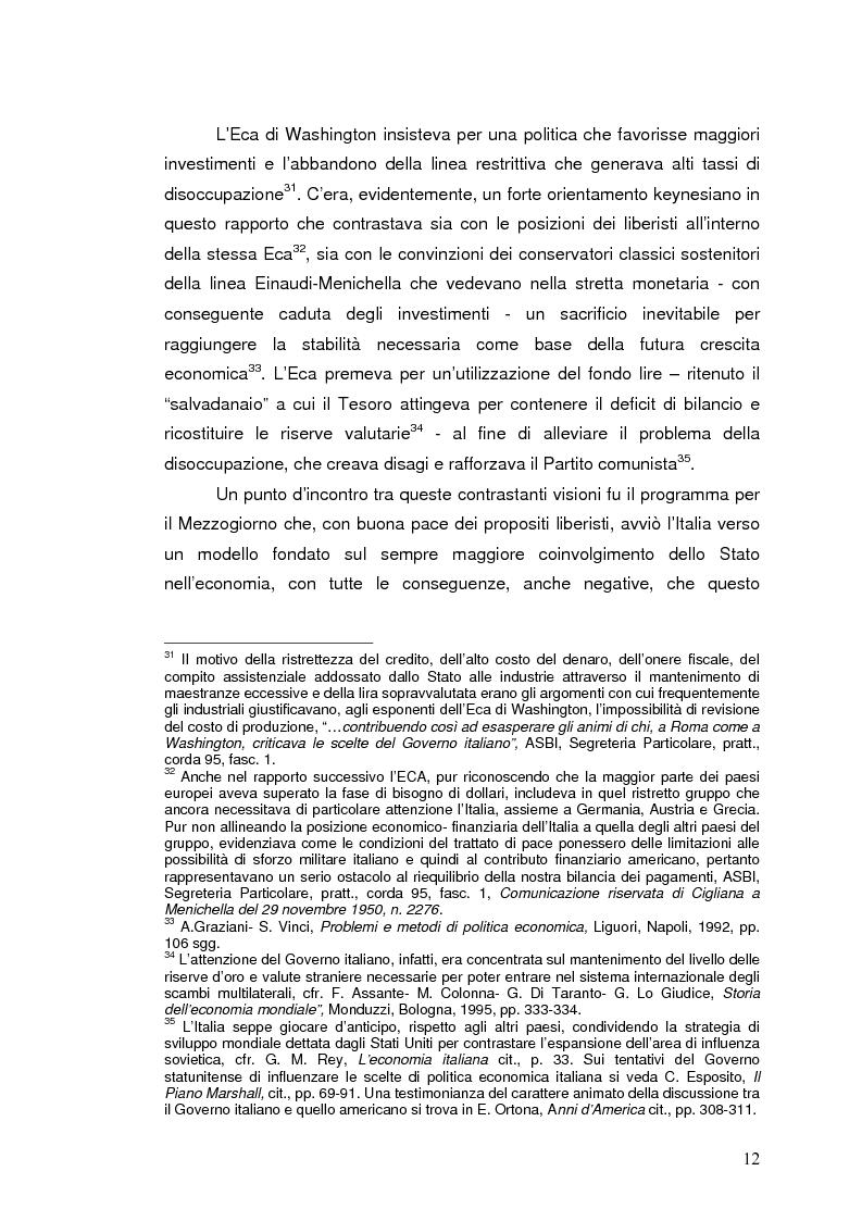 Anteprima della tesi: La Banca Internazionale per la Ricostruzione e lo Sviluppo nella storia dell'intervento straordinario per il Mezzogiorno (1946-1960), Pagina 12