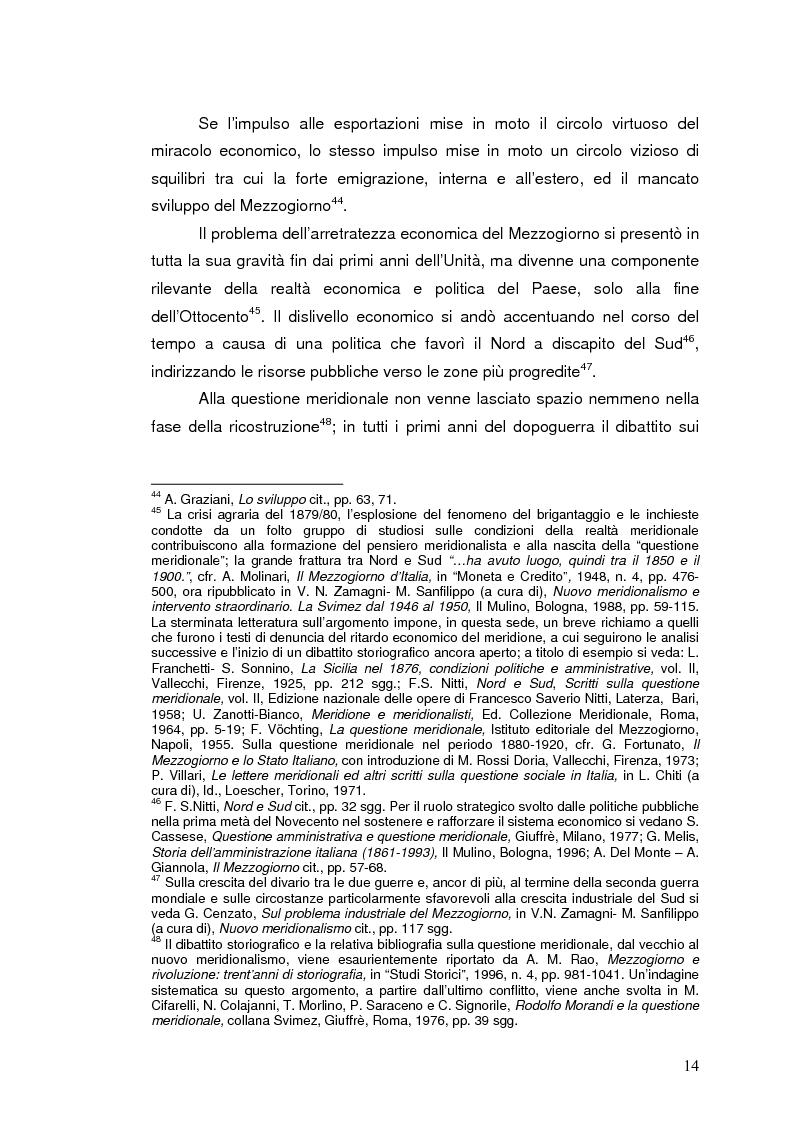 Anteprima della tesi: La Banca Internazionale per la Ricostruzione e lo Sviluppo nella storia dell'intervento straordinario per il Mezzogiorno (1946-1960), Pagina 14