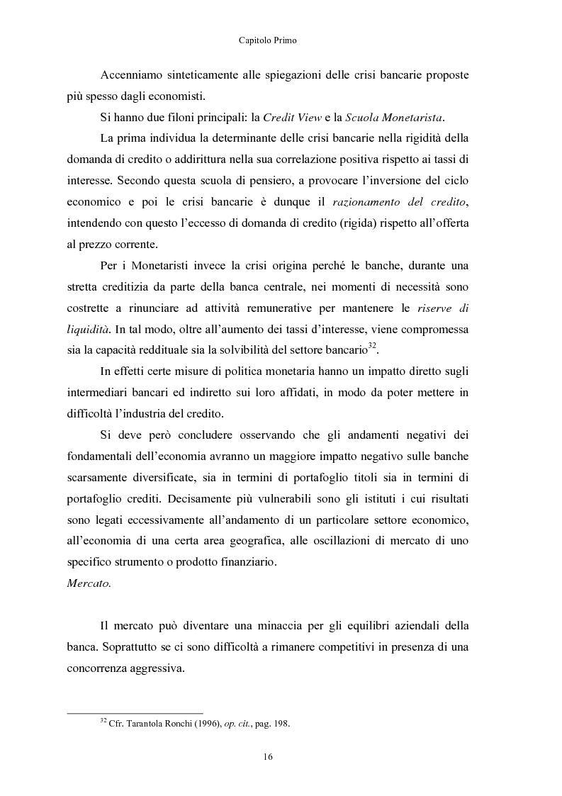 Anteprima della tesi: Le crisi bancarie. Strumenti di analisi, previsione e gestione., Pagina 15