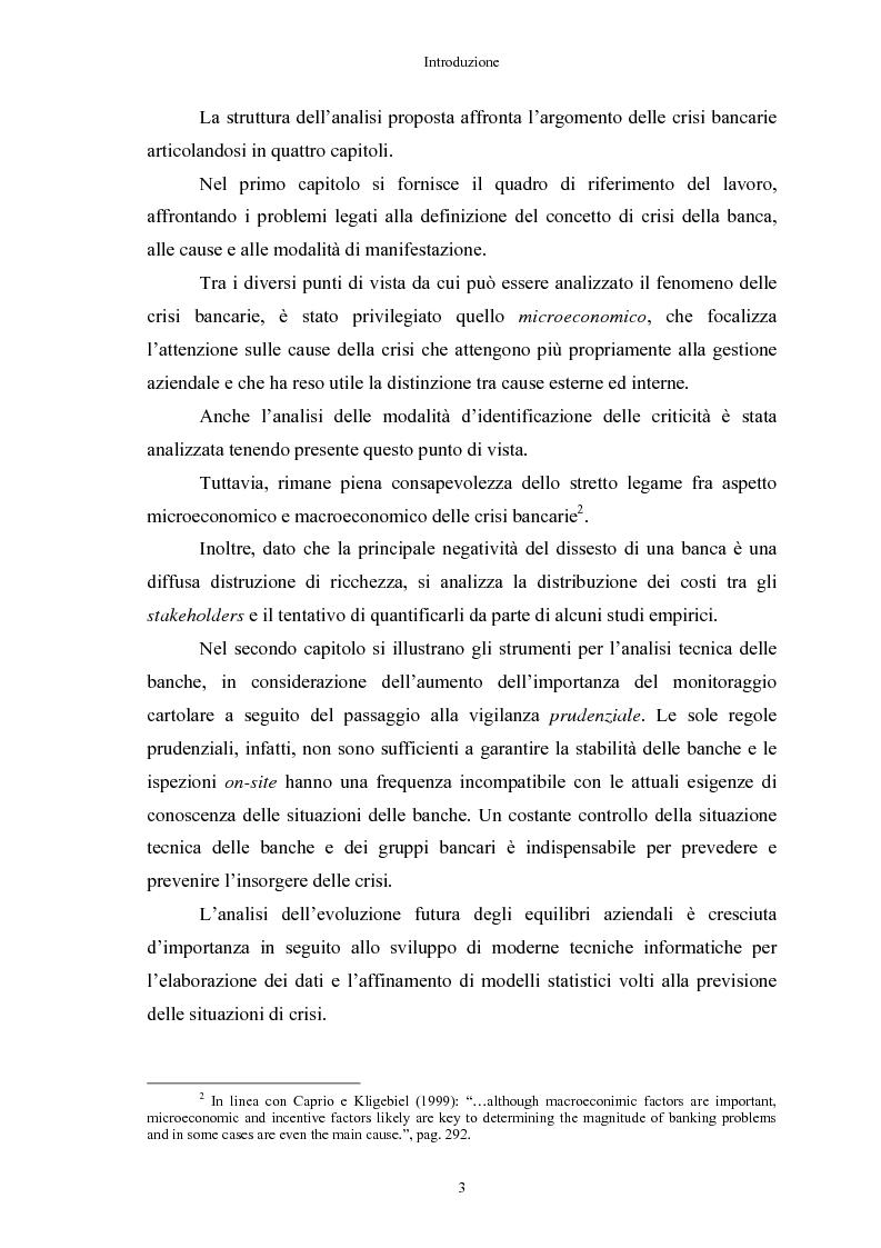 Anteprima della tesi: Le crisi bancarie. Strumenti di analisi, previsione e gestione., Pagina 2