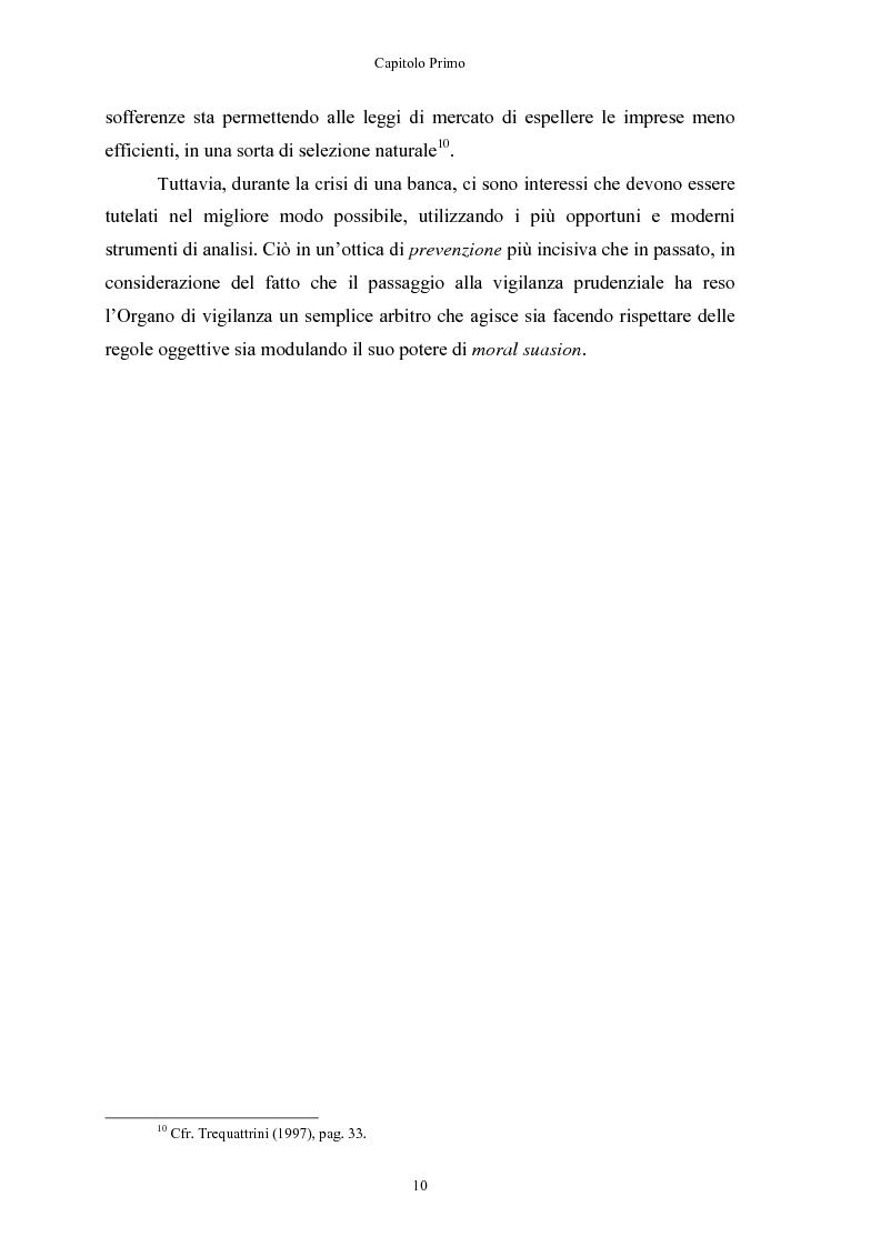 Anteprima della tesi: Le crisi bancarie. Strumenti di analisi, previsione e gestione., Pagina 9