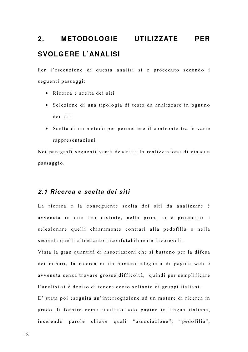 Anteprima della tesi: Costruzione di un'emergenza in rete: siti web e pedofilia, Pagina 13