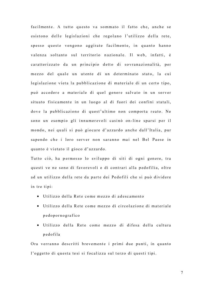 Anteprima della tesi: Costruzione di un'emergenza in rete: siti web e pedofilia, Pagina 2