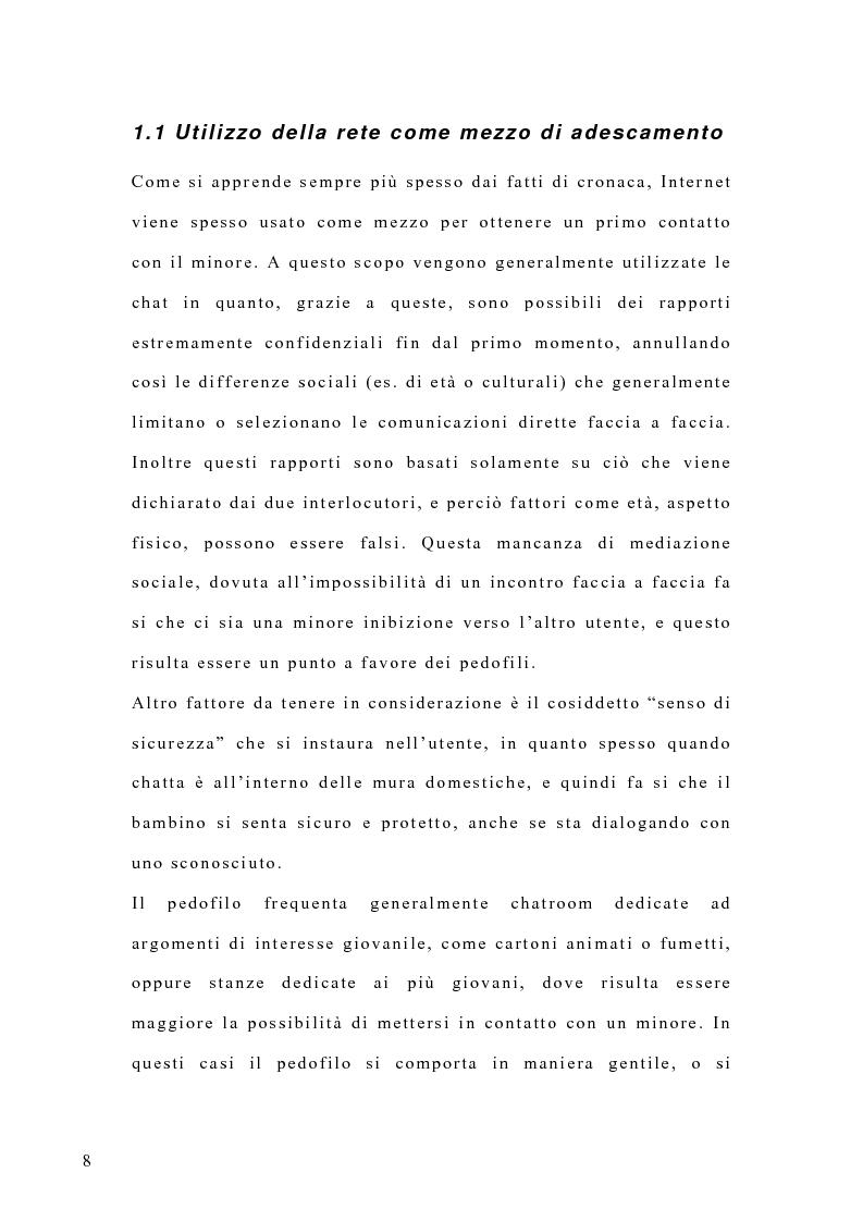 Anteprima della tesi: Costruzione di un'emergenza in rete: siti web e pedofilia, Pagina 3