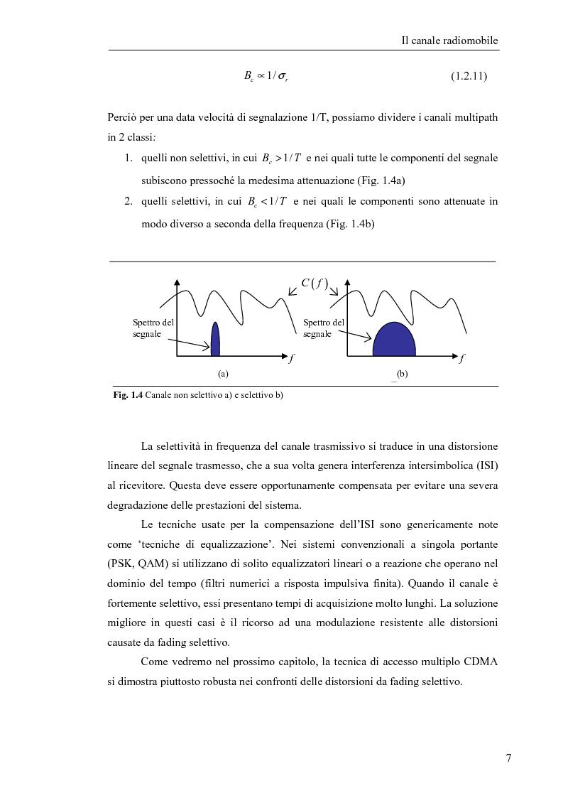 Anteprima della tesi: Stima di frequenza in canali tempo varianti per sistemi W-CDMA con codici lunghi, Pagina 10