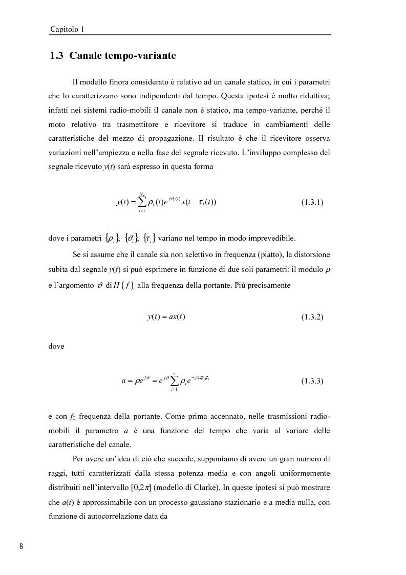 Anteprima della tesi: Stima di frequenza in canali tempo varianti per sistemi W-CDMA con codici lunghi, Pagina 11