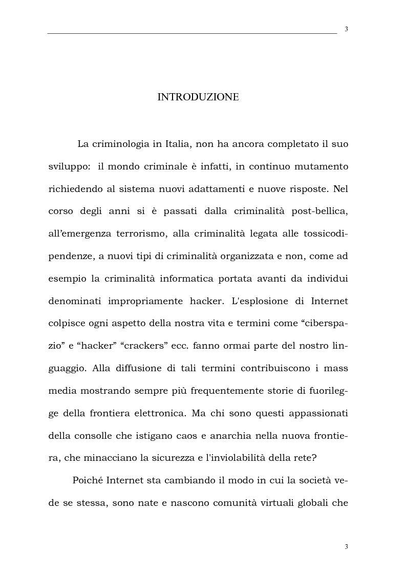 Aspetti psichiatrico forensi in tema di criminalit� informatica - Tesi di Laurea