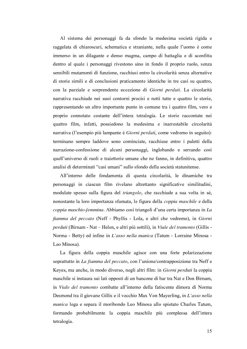 Anteprima della tesi: La tetralogia degli sconfitti: Billy Wilder e la società americana. ''La fiamma del peccato'', ''Giorni perduti'', ''Viale del tramonto'' e ''L'asso nella manica'', Pagina 13