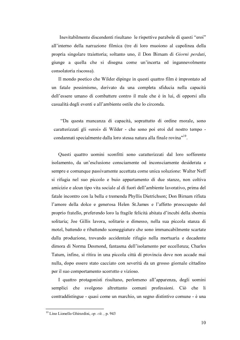 Anteprima della tesi: La tetralogia degli sconfitti: Billy Wilder e la società americana. ''La fiamma del peccato'', ''Giorni perduti'', ''Viale del tramonto'' e ''L'asso nella manica'', Pagina 8