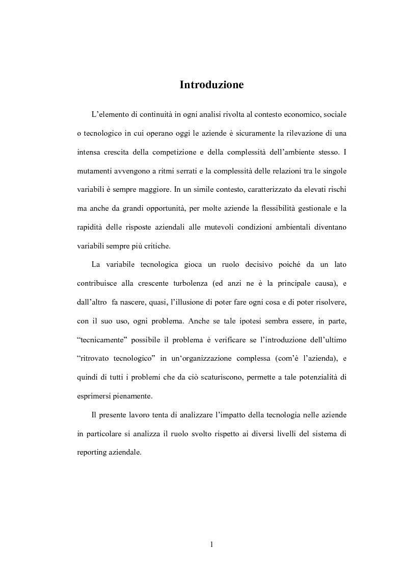 Anteprima della tesi: Sistemi Informativi e Reporting:il caso del Knowledge Management nella Piaggio & Co., Pagina 1