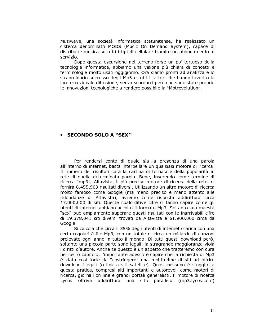 Anteprima della tesi: Note nella rete: Presente e futuro della musica in internet, Pagina 11
