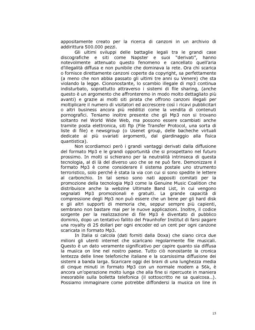 Anteprima della tesi: Note nella rete: Presente e futuro della musica in internet, Pagina 12