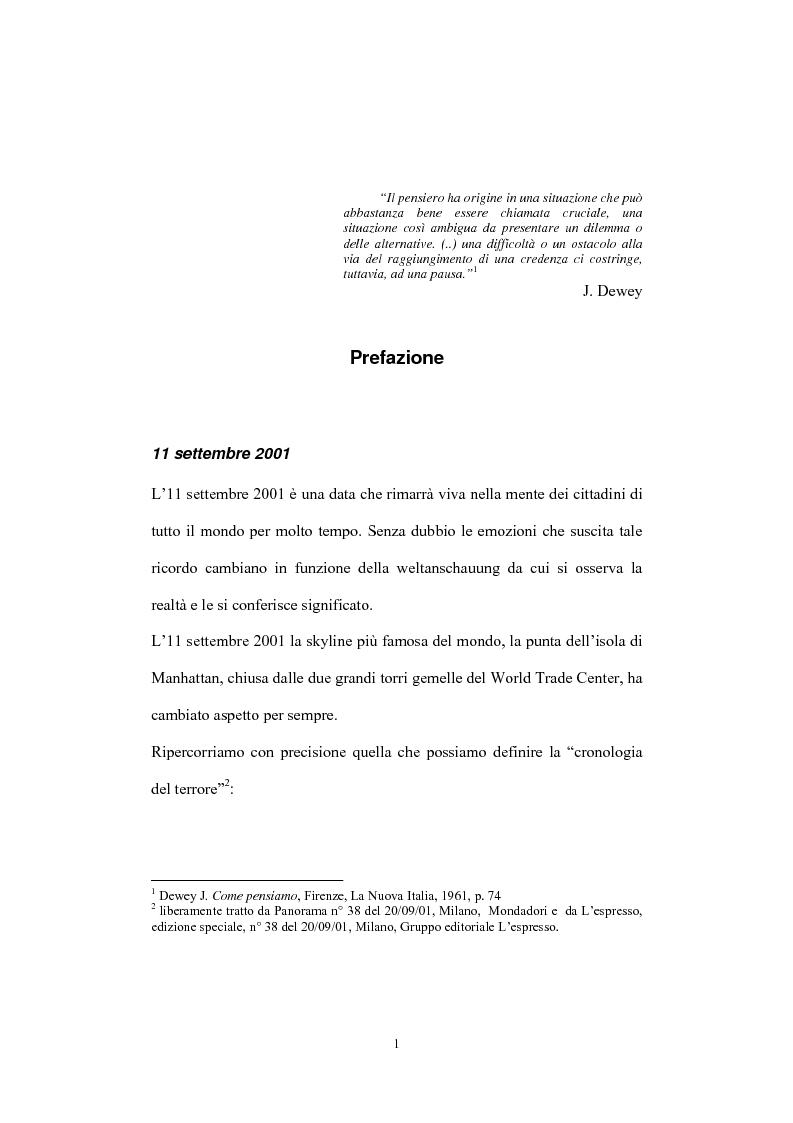 Anteprima della tesi: Globalizzazione del terrorismo e terrorismo della globalizzazione, Pagina 1
