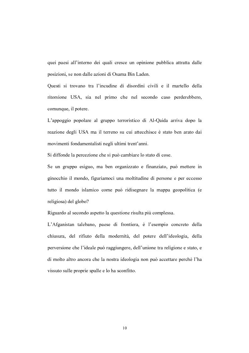 Anteprima della tesi: Globalizzazione del terrorismo e terrorismo della globalizzazione, Pagina 10