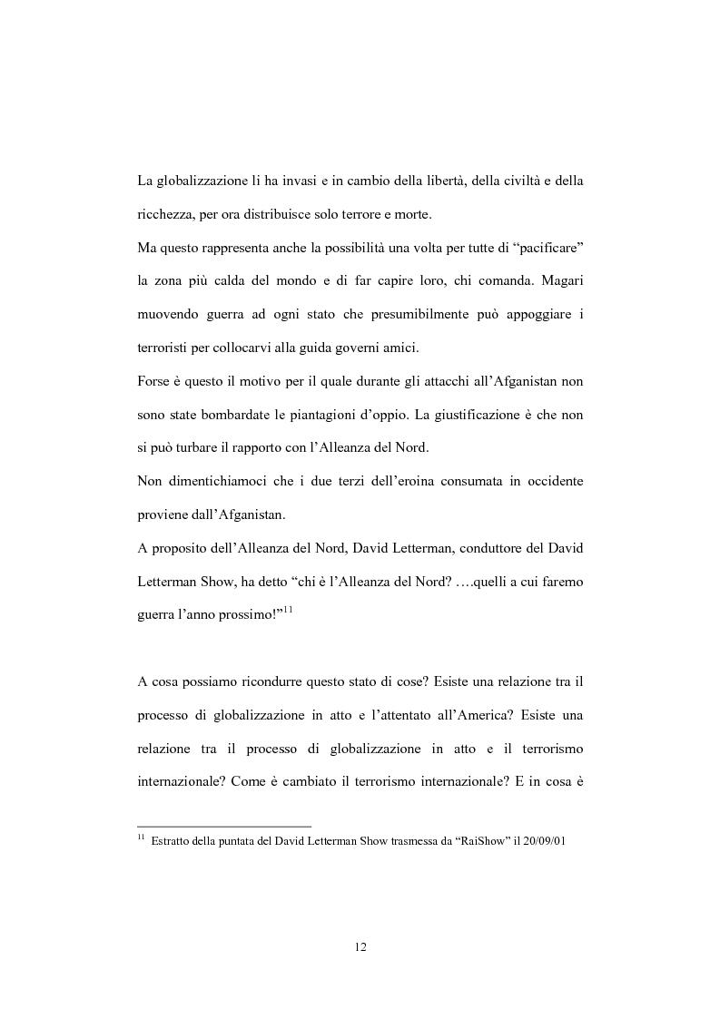 Anteprima della tesi: Globalizzazione del terrorismo e terrorismo della globalizzazione, Pagina 12
