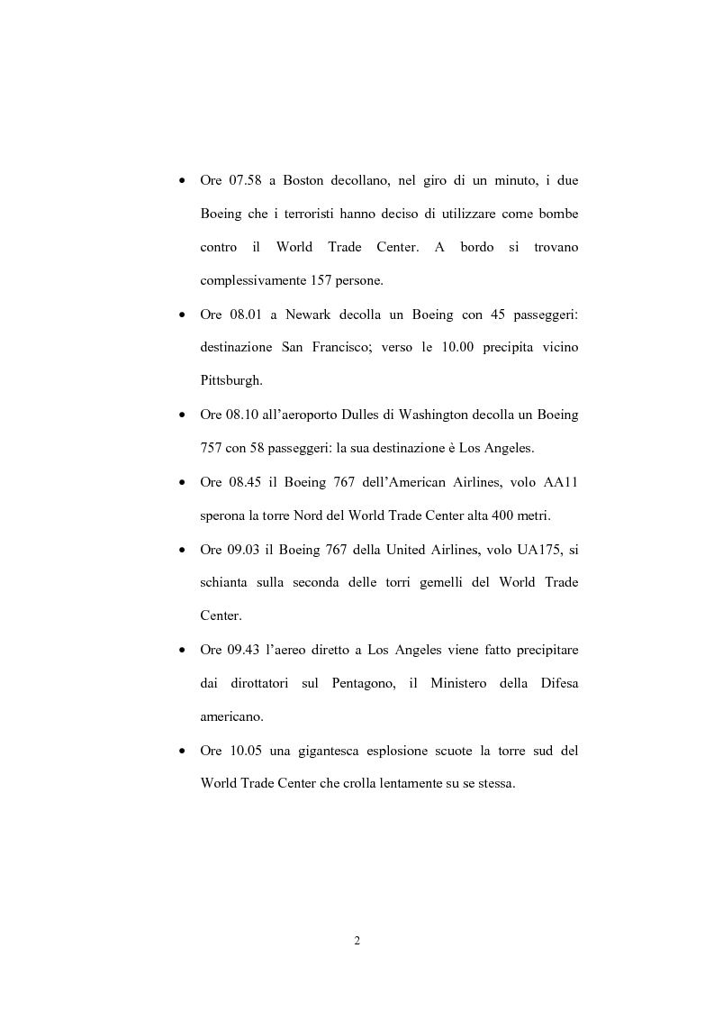Anteprima della tesi: Globalizzazione del terrorismo e terrorismo della globalizzazione, Pagina 2