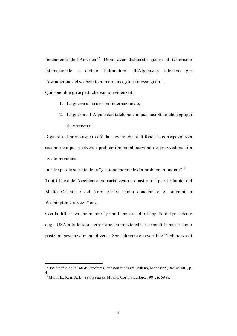 Anteprima della tesi: Globalizzazione del terrorismo e terrorismo della globalizzazione, Pagina 9