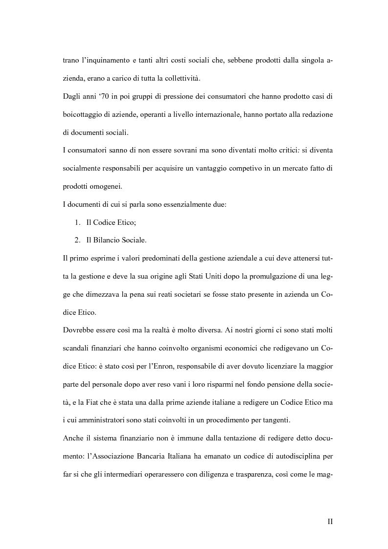 Anteprima della tesi: La responsabilità sociale degli istituti di credito, Pagina 2
