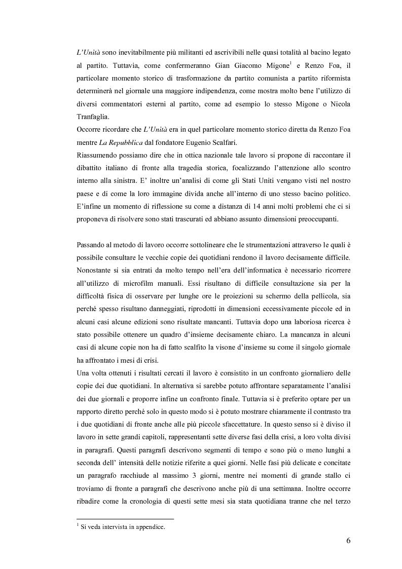 Anteprima della tesi: Politica estera e comunicazione: La prima guerra del golfo secondo ''La Repubblica'' e ''L'Unità'', Pagina 3