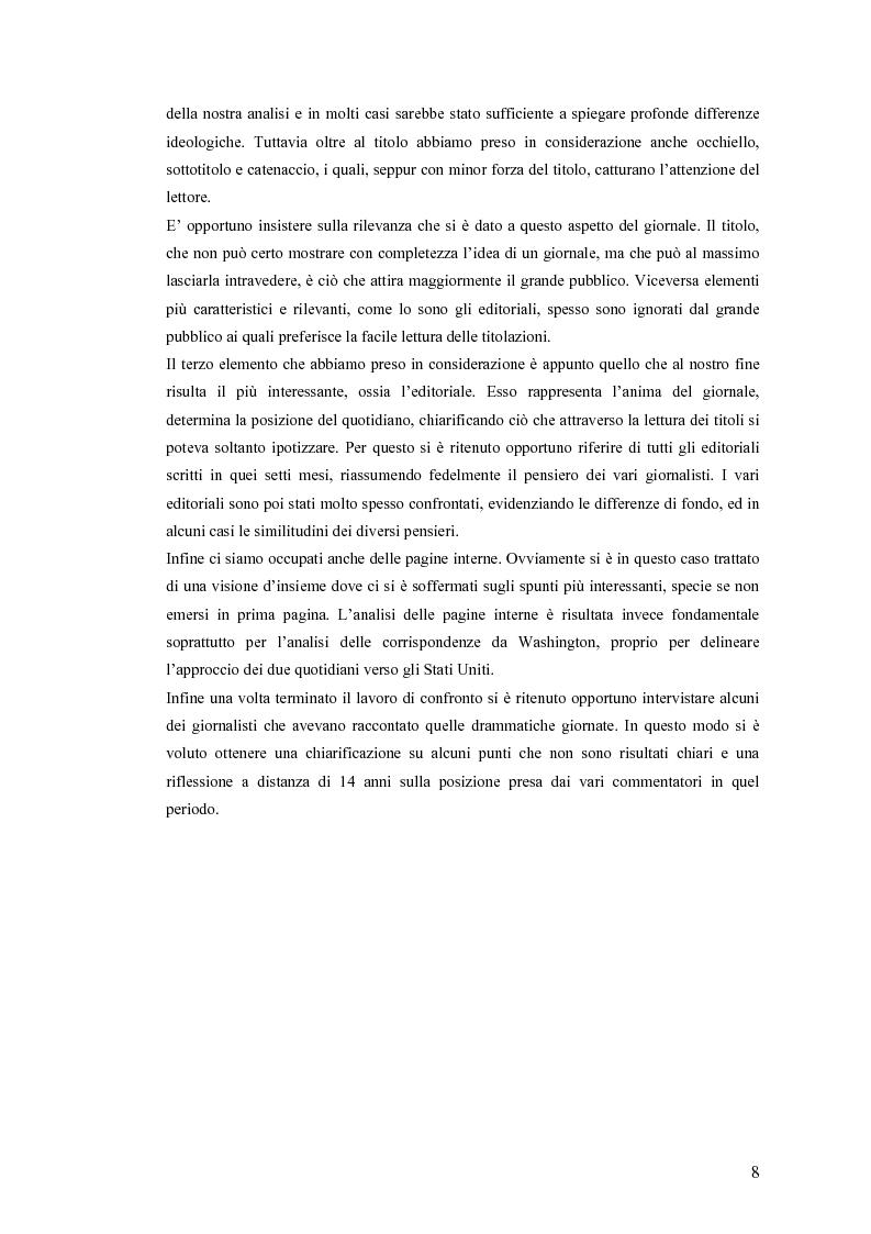Anteprima della tesi: Politica estera e comunicazione: La prima guerra del golfo secondo ''La Repubblica'' e ''L'Unità'', Pagina 5