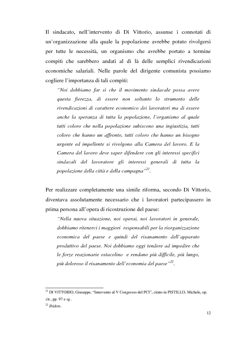 Anteprima della tesi: I rapporti tra il P.C.I. e la C.G.I.L. dalla crisi del 1955 alla svolta degli anni '60, Pagina 15