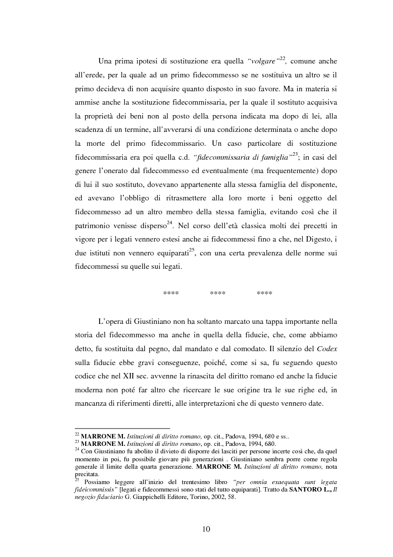 Anteprima della tesi: La Fiducie: un'analisi di diritto comparato, Pagina 10