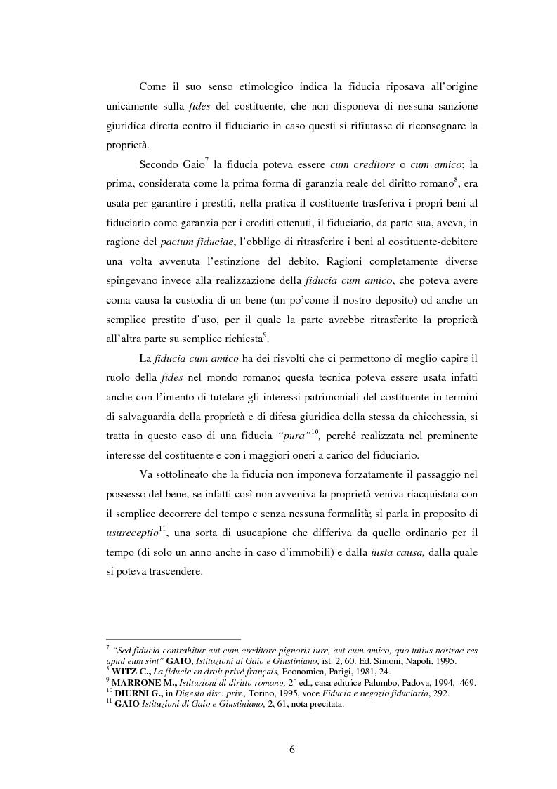 Anteprima della tesi: La Fiducie: un'analisi di diritto comparato, Pagina 6