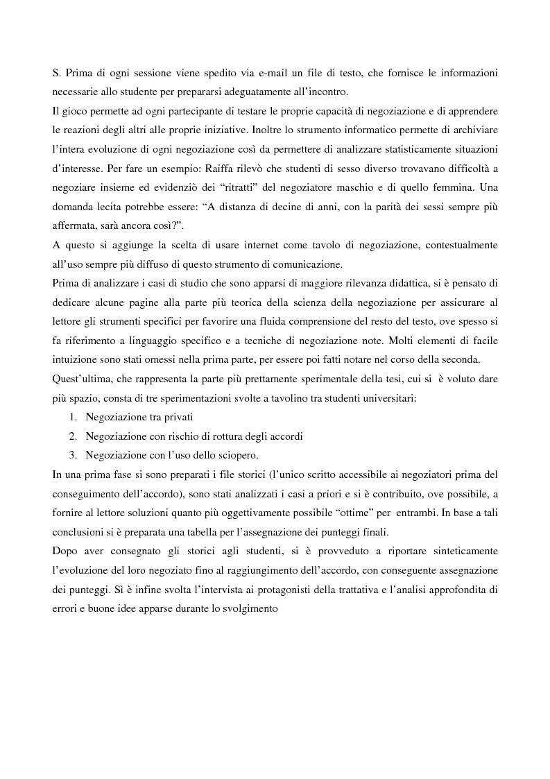 Anteprima della tesi: Sviluppo e analisi di un gioco di negoziazione, Pagina 2