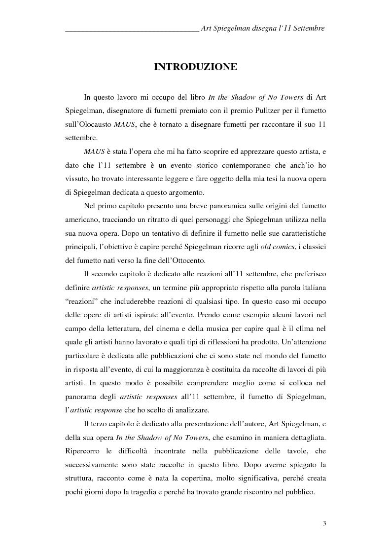Anteprima della tesi: In the shadow of no towers. Art Spiegelman disegna l'11 Settembre, Pagina 1