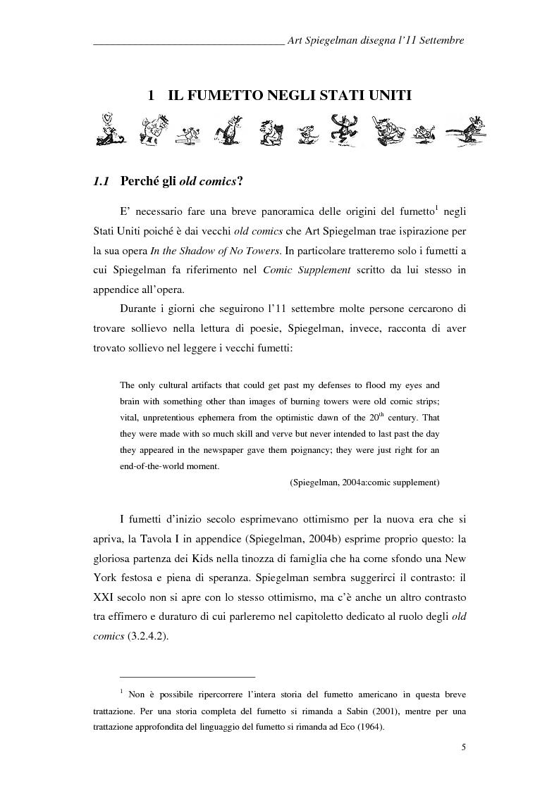 Anteprima della tesi: In the shadow of no towers. Art Spiegelman disegna l'11 Settembre, Pagina 3