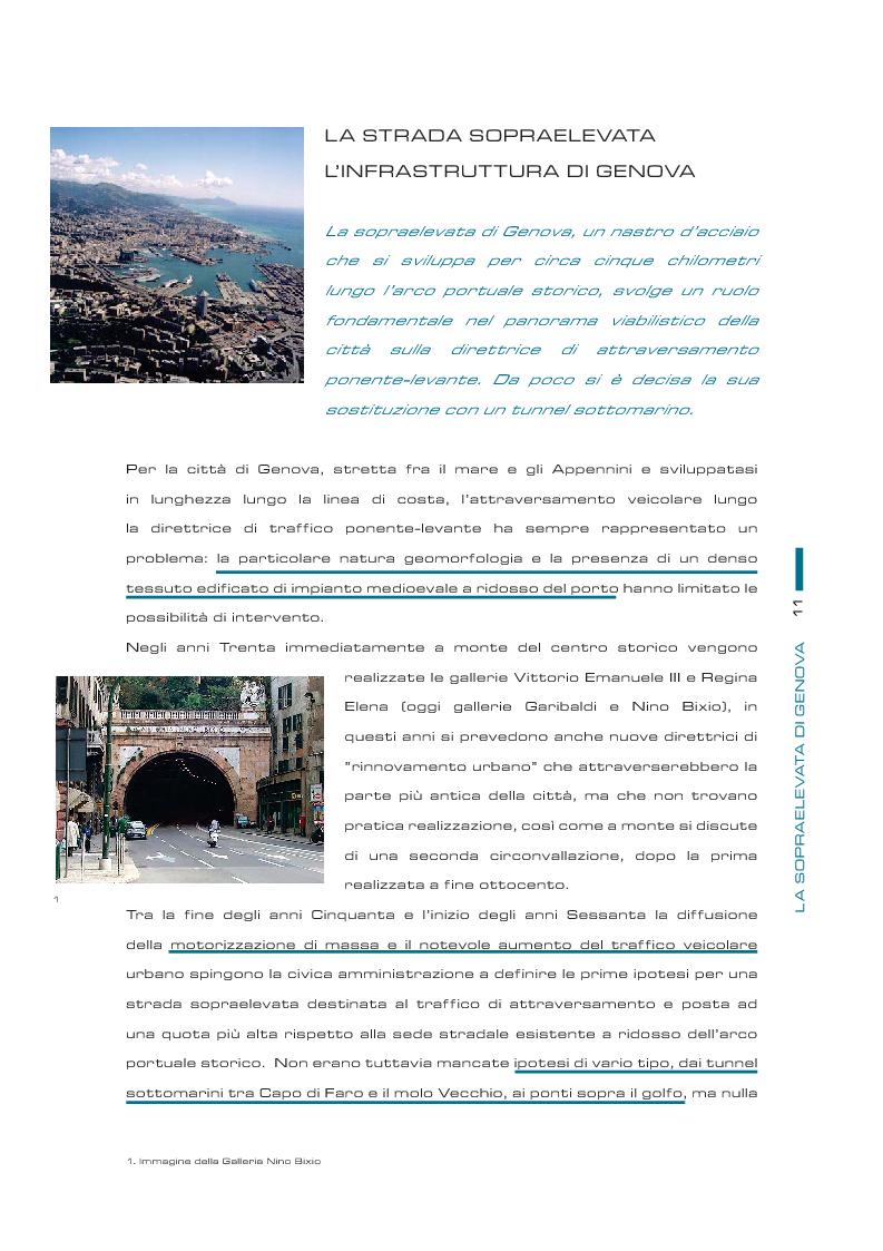 Anteprima della tesi: Il futuro della sopraelevata di Genova: la nuova passeggiata a mare, Pagina 4