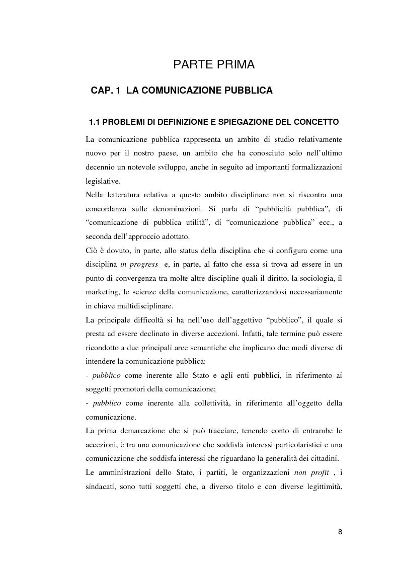 Anteprima della tesi: Le campagne di utilità sociale sulla tossicodipendenza: un contributo di ricerca, Pagina 5