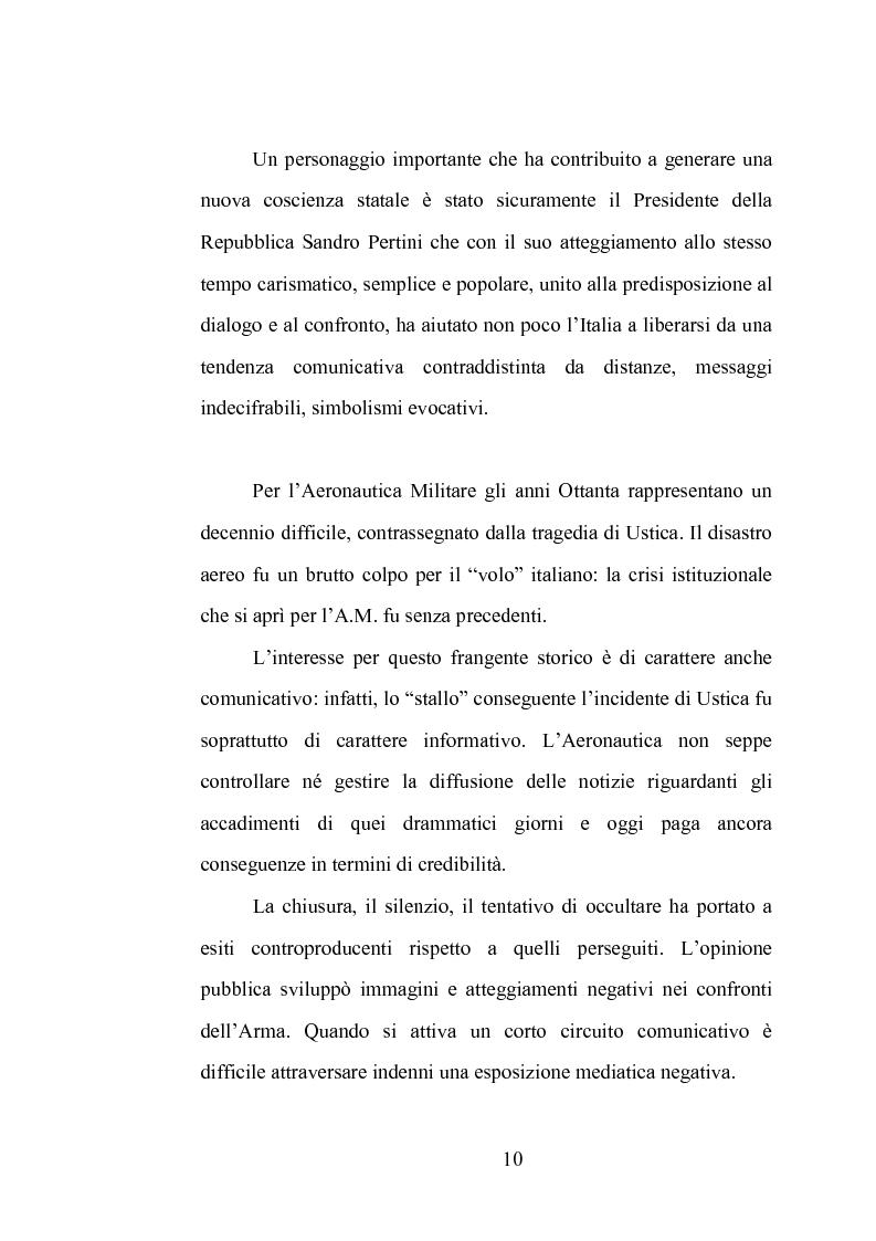 Anteprima della tesi: La comunicazione istituzionale dell'Aeronautica Militare. Uno sguardo dall'alto sulle attività dell'Ufficio Stampa della A. M., Pagina 4
