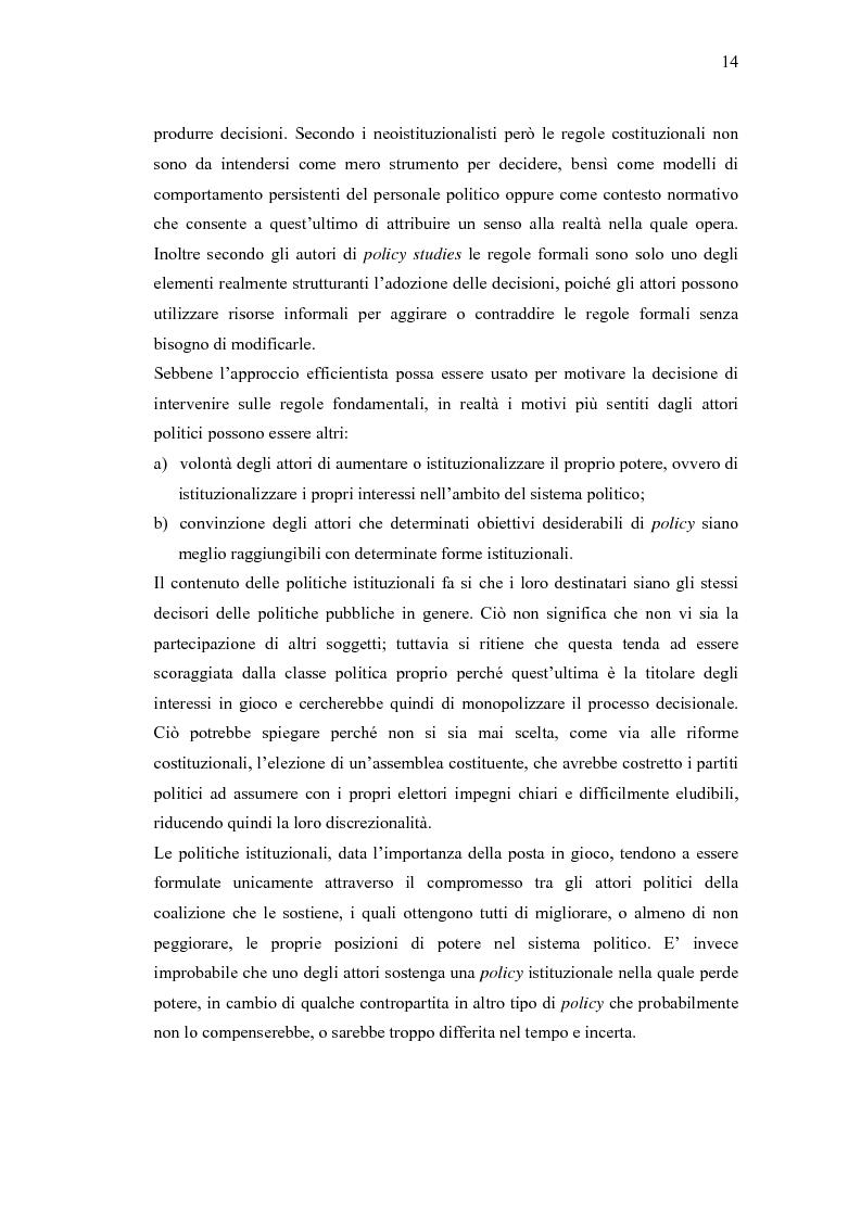 Anteprima della tesi: Verso un'Italia federale. Dalla Riforma del Titolo V al disegno di legge sulla devoluzione., Pagina 11