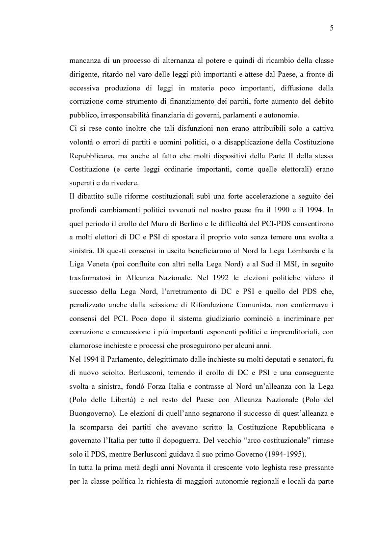 Anteprima della tesi: Verso un'Italia federale. Dalla Riforma del Titolo V al disegno di legge sulla devoluzione., Pagina 2