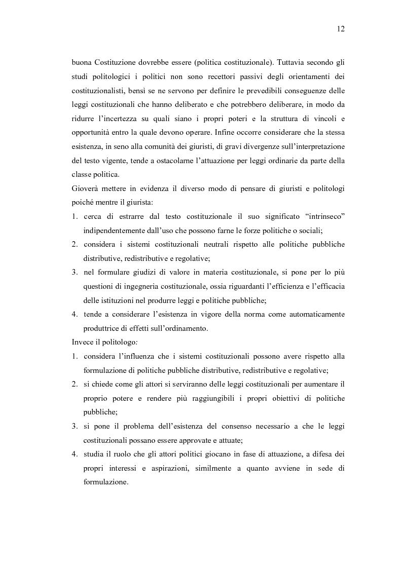 Anteprima della tesi: Verso un'Italia federale. Dalla Riforma del Titolo V al disegno di legge sulla devoluzione., Pagina 9