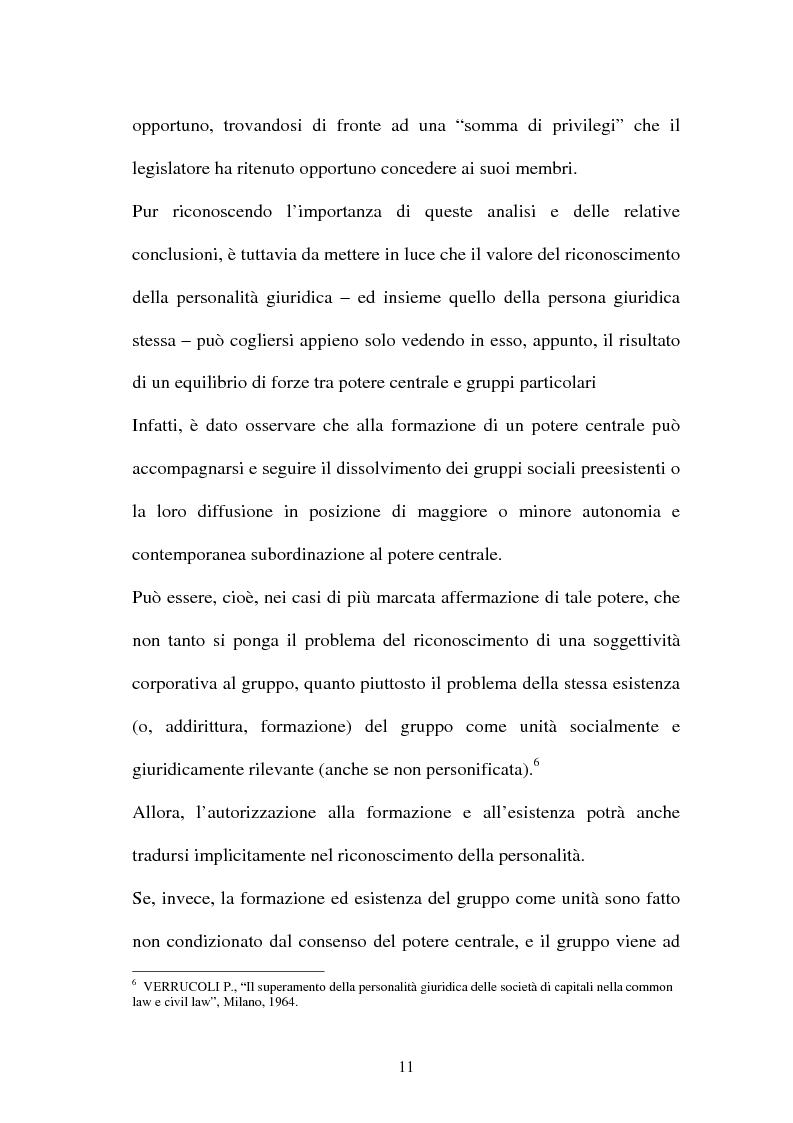 Anteprima della tesi: Personalità e soggettività giuridica. Un caso specifico: ''Le Anstalten''., Pagina 11