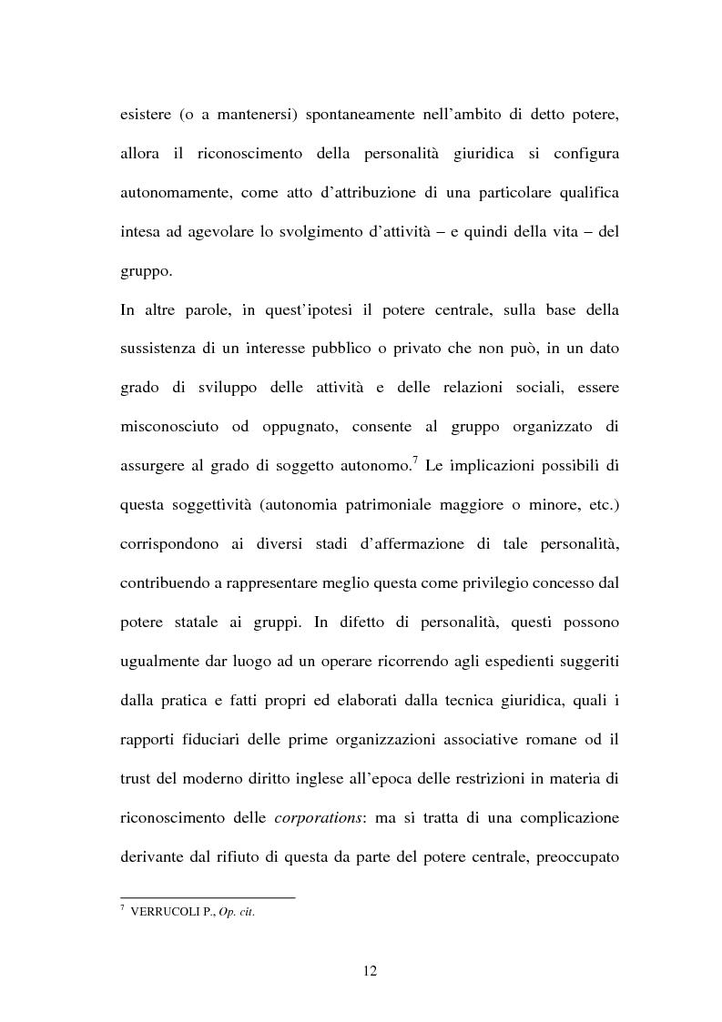 Anteprima della tesi: Personalità e soggettività giuridica. Un caso specifico: ''Le Anstalten''., Pagina 12