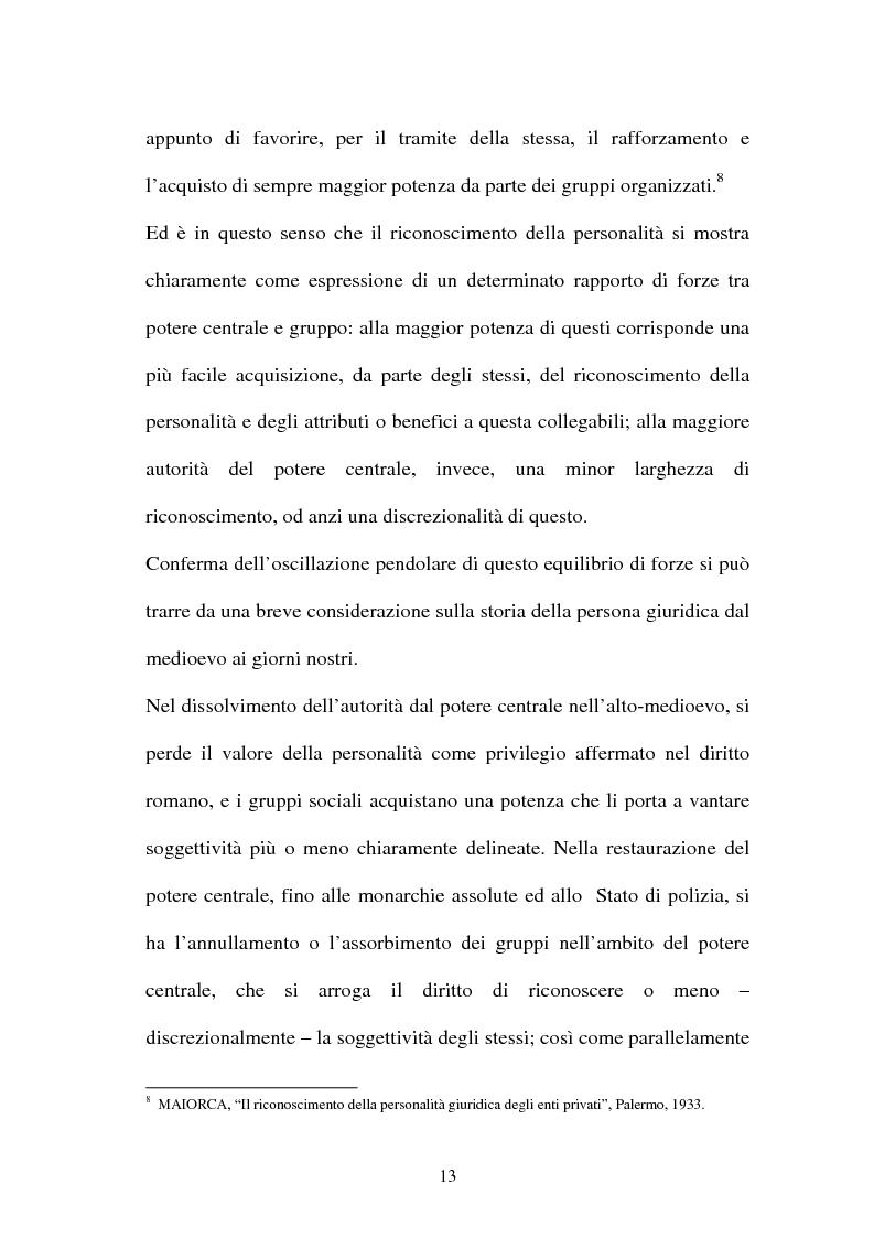 Anteprima della tesi: Personalità e soggettività giuridica. Un caso specifico: ''Le Anstalten''., Pagina 13