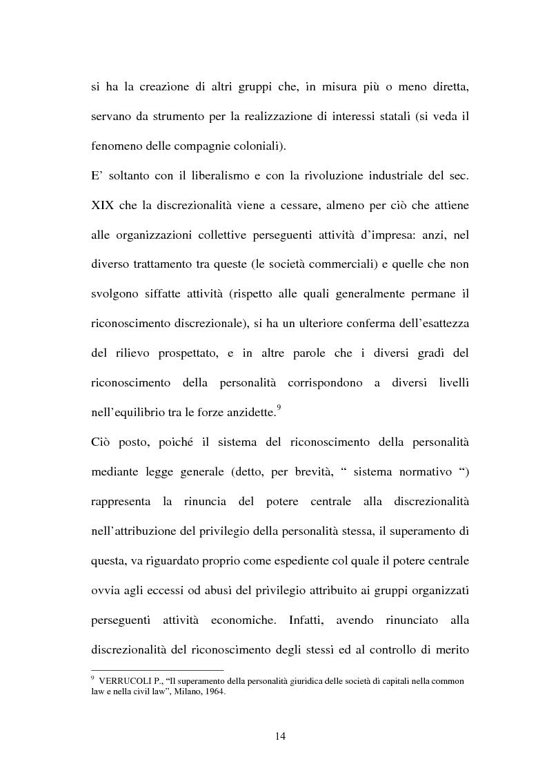 Anteprima della tesi: Personalità e soggettività giuridica. Un caso specifico: ''Le Anstalten''., Pagina 14